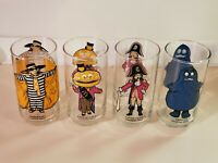 1977 McDonalds Collector Series Drinking Glasses. NEW. Lot of 6:Grimace, Mayor+