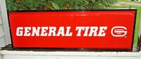 Vintage 1970s Era General Tire Double Sided Lighted Advertising Sign - Gas Oil