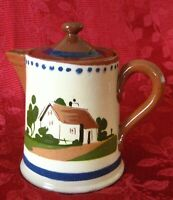 WATCOMBE TORQUAY, MOTTO WARE SMALL TEAPOT WITH LID IN COTTAGE PATTERN