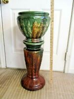 McCoy Jardiniere and Pedestal - good condition