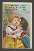[72310] 1880-1890's TRADE CARD LAUTZ BROS. & Co.'s MASTER SOAP, BUFFALO, N. Y.