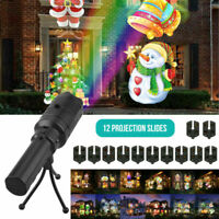 12 Patterns Outdoor LED Lights Plug-in Card Projector Lights Halloween Christmas