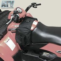 ATV UTV SxS Motorcycle Padded Cargo Storage Tank Saddle Bag - Black