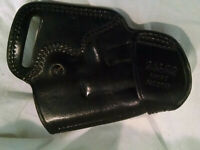 Galco Black Leather Small of the Back SOB225B Glock 40 Holster LEFT Handed