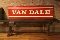 Vtg 1950s VAN DALE Farm sign Cow Cattle Feeder Farm 18