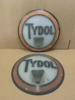 Vintage Tydol Cast Glass Gas Pump Globe Original Station Flying A Ethyl Sign