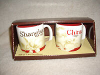 STARBUCKS Demitasse Mini Mugs Set SHANGHAI China 3 oz New