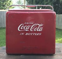 Vintage 1950's Coca Cola Ice Chest Cooler With Tray