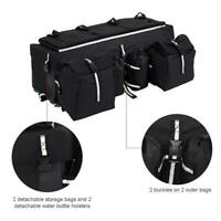 ATV Rear Rack Seat Cargo Storage Luggage Gear Pack Tank Saddle Bag 26.8