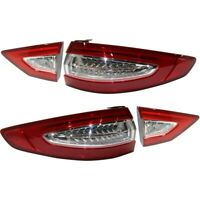 Tail Light Lamp Left-and-Right Inside LH & RH for Ford Fusion 2013-2016