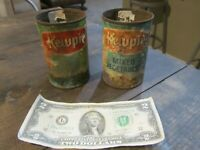 Vintage Kewpie Tin Can Vegetable Advertising Lot of 2 RARE baby