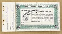 1950's Vintage Rocket Watch Crystal Jeweler Certificates Advertising Booklet Old