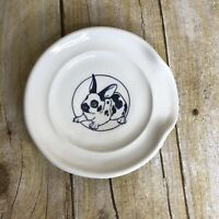 English Spot Bunny Rabbit Dish Benn Gallagher Pottery