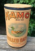 KAMO DUCK ROLLED OATS 3 LB PAXTON GALLAGHER OMAHA ADVERTIZING BOX NOT TIN CAN