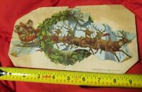 1882 BOGGS & BUHL SANTA CLAUS Christmas Sign Victorian Advertising PITTSBURGH