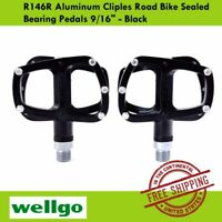 Wellgo MG-8 Magnesium Road Bicycle Bike Clipless Pedals Cr-Mo Axle Black