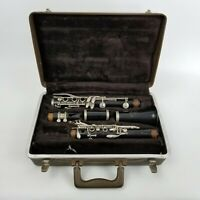 Bundy Selmer Resonite Deluxe Clarinet Bb Case and Mouthpiece Clean Ready to Play