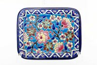 Longwy Emaux French Enamel Turquoise Vide Poche Tray
