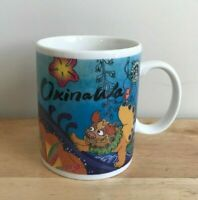 2006 STARBUCKS OKINAWA JAPAN Foo Dogs Flowers Mug - Made in Japan - EUC