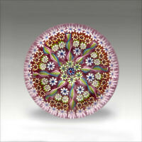 Vintage Perthshire PP5 millefiori signed glass paperweight / presse papiers