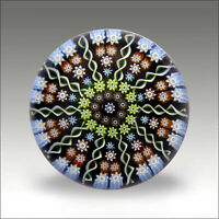 Vintage Perthshire PP2 millefiori signed glass paperweight / presse papiers