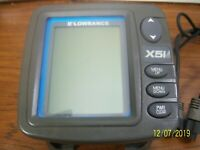 Lowrance X51 Sonar Fish Finder Depth Sounder Monitor Sounding Sounder Complete