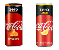 Coca Cola Zero Mango or Coca Cola Zero Limon Special Edition Collection 2 Cans