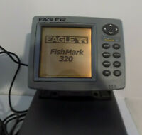 Eagle Fish Mark 320 Portable LCD Fish Finder w/ Transducer & Case *WORKS GREAT*