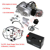 125cc Engine Motor Semi Auto Electric Start w/ Battery , Wiring for ATV Buggy
