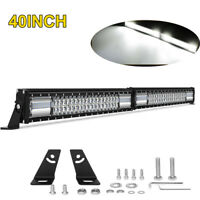 32inch 840W Curved LED Light Bar Combo Driving Spot Flood Offroad Truck 4WD ATV