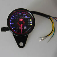 Motorcycle Motorbike Dual Odometer Speedometer Gauge LED Backlight Tacho ATV