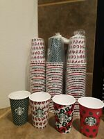 New Starbucks 2019 Holiday Disposable Paper Cups only No Lids 12oz (90 cups)
