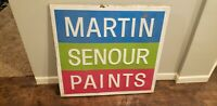 3ftx3ft NAPA MARTIN SENOUR PAINTS Wall Gas Oil Sign Feed Seed