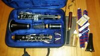 Buffet Crampon R13 Prestige Bb clarinet, repadded, tons of extras!
