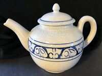 Crackle Bunny Rabbit Lidded Dedham Teapot - The Pottery Shed