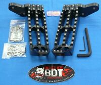 HONDA TRX 250R TRX250R BDT RACING BILLET FOOT PEG SET CLEAT DESIGN 1986-87 BLACK