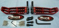 HONDA TRX 250R TRX250R BDT RACING BILLET FOOT PEG SET CLEAT DESIGN 1986-87 RED