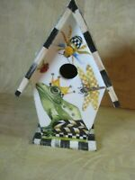 MACKENZIE CHILD'S FROG  BIRDHOUSE,HAND MADE BY ME