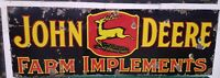 John deere porcelain sign original tractor Collectable gas oil