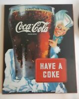 Vinatge Wooden Collectible Coca Cola Pictures