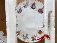 Williams Sonoma Large 12 Days of Christmas Porcelain Cheese Platter NEW IN BOX