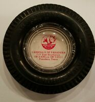Vintage Armstrong Tire White Rhino Ashtray Pasadena TX
