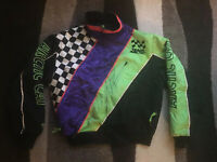Vintage ARCTIC CAT SNOWMOBILE USED JACKET SIZE L Adult  2 In 1 Jacket!