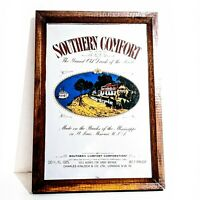 Vintage Southern Comfort Whiskey Advertising Glass Bar Mirror man cave
