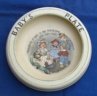 Roseville Pottery Juvenile Nursery Rolled Edge Plate Higgledy Piggledy Child