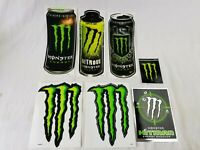 lot of 7 Huge Monster Energy Drink Logo Can Sticker Decals hitman nitrous rare!