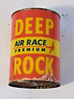 Vintage ONE Quart Deep Rock Air Race Premium Oil Can Airplane Gas Station!