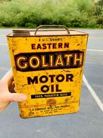 Rare SICK Vintage GOLIATH EASTERN OIL 2 U.S. Gallon Gas Can THE REAL DEAL