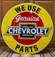 Chevrolet Parts Metal Sign Garage Vintage Style Wall Decor Tools Oil Gas Bar Pub