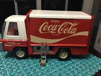 Vintage Buddy L Coca Cola Delivery Truck - 1970s Original Metal Tin Toy Japan